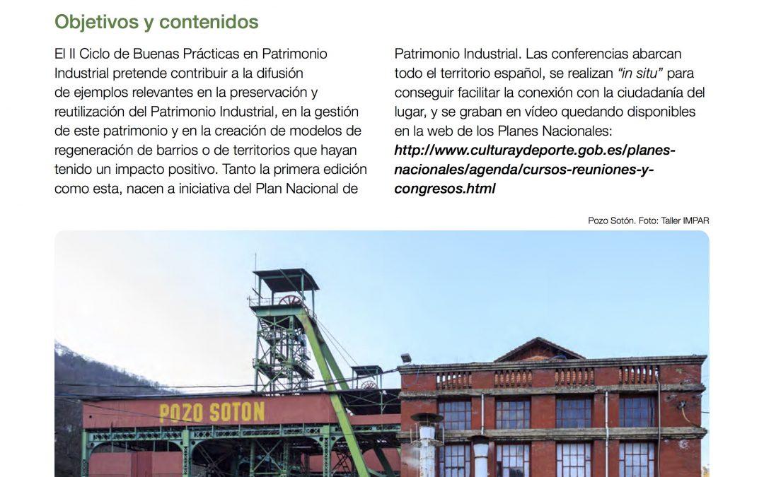 II Ciclo de Buenas Prácticas en Patrimonio Industrial en el Pozo Sotón el 28 de mayo