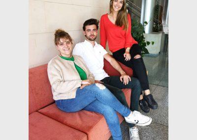 Claudia Pedrayes Cobas, Nerea Prado Martínez y Manuel Platas Iglesias