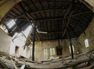 Sanatorio de Bustiello, estado ruinoso y abandono .Junio 2020