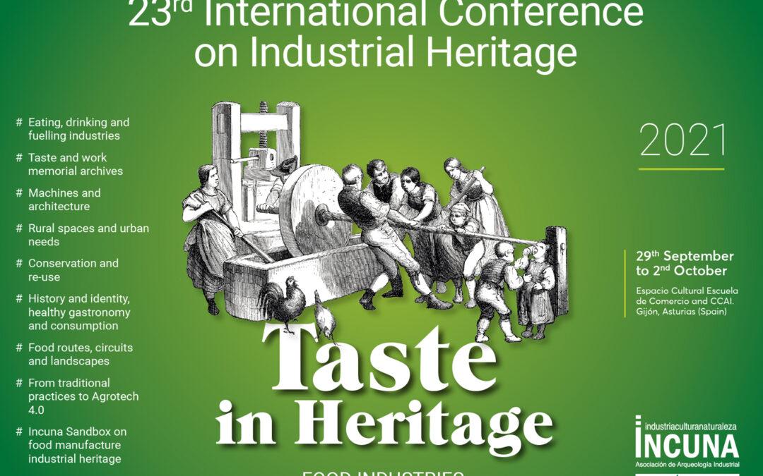 INTERNATIONAL PROGRAM XXIII INTERNATIONAL CONFERENCE ON INDUSTRIAL HERITAGE- INCUNA